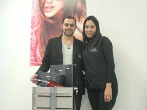 Willians e nossa vendedora Graciela Benites