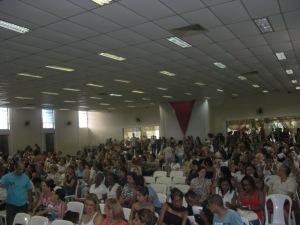 Auditório do CEMUR, em Taboão da Serra-SP, estava cheio para a entrega dos certificados.